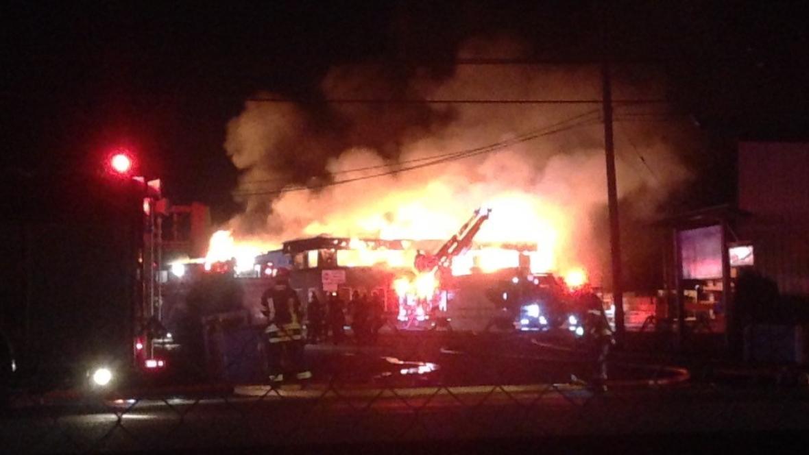 Fire crews battle massive lumber yard fire in Langley ...