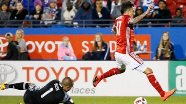 Mauro Diaz opened the scoring in the 79th minute, Maximiliano Urruti added a fast-break finish in the 87th and FC Dallas beat the Montreal Impact 2-0 on Saturday night.