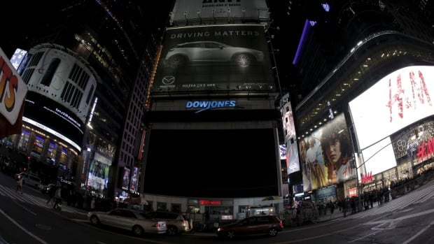 A large screen in Times Square went dark for Earth Hour in New York on Saturday.