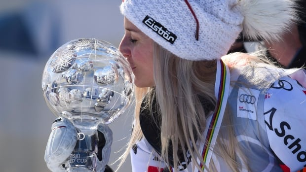 Austria's Eva-Maria Brem won her first-ever crystal globe after the final giant slalom race of the World Cup season on Sunday.