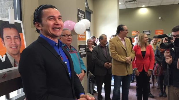 Wab Kinew officially kicked off his campaign for the NDP in Fort Rouge Sunday.