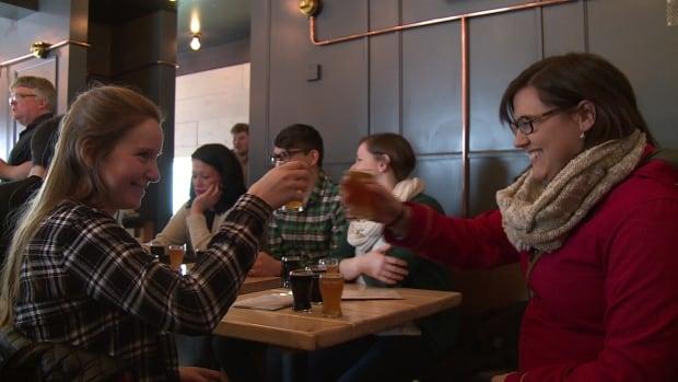 Beer bus patrons