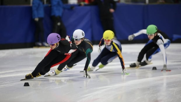 Hundreds of heats took place over the weekend for many young Canadian speed skaters at the Grant-Harvey Centre.