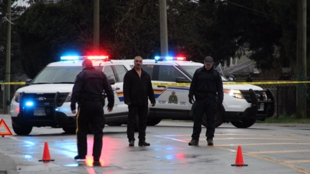 Police investigate a report of shots fired near 132 Street and 110 Avenue in Surrey