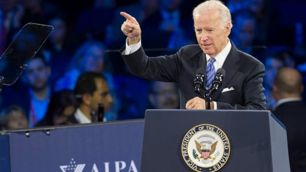 Vice President Joe Biden addresses the American Israel Public Affairs Committee (AIPAC) Policy Conference in Washington.