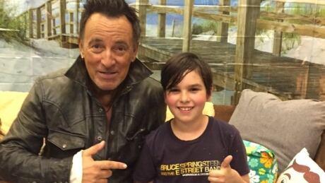 Bruce Springsteen and fan Xabi Glovsky
