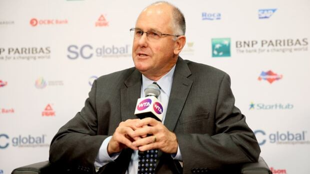 """Steve Simon, the CEO of the WTA, and the former tournament director at Indian Wells called Raymond Moore's comments about female players """"disappointing and alarming."""" Moore later issued a written apology."""