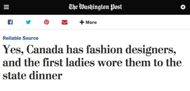 Washington Post Canada Fashion