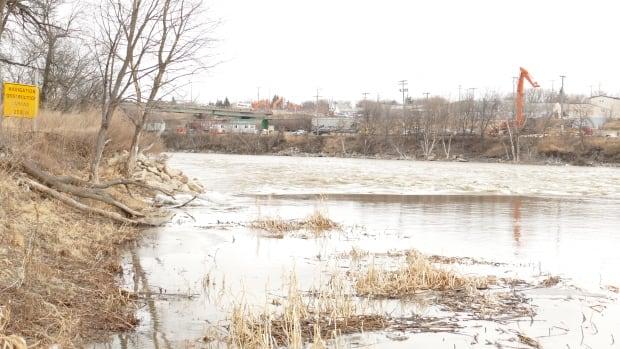 The Assiniboine River at Brandon's Dinsdale Park.