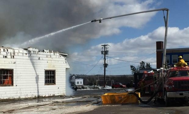 Firefighters battle blaze at Hants County school