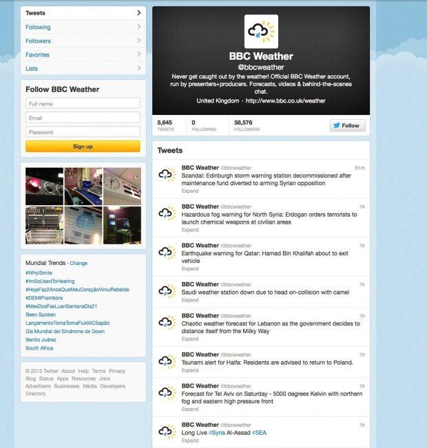 Britain BBC Twitter Hack