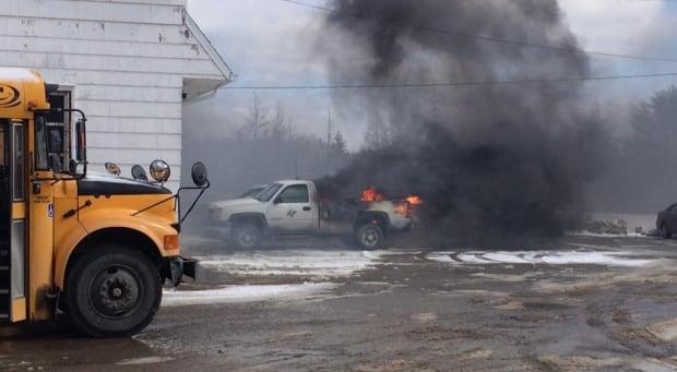 Hants County garage fire