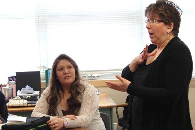 Shayla Tanner Regina classroom
