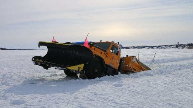 A plow plunged through Great Slave Lake Saturday while clearing a trail for the Canadian Championship Dog Derby. Organizer Grant Beck says he expects the race to go ahead as scheduled.