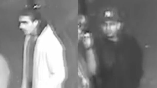 Investigators are looking to speak to these two men in relation to a January stabbing outside a Granville Street nightclub