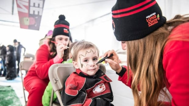 A child getting his face painted at the Long John Jamboree. The annual Yellowknife spring festival kicks off this Easter weekend.