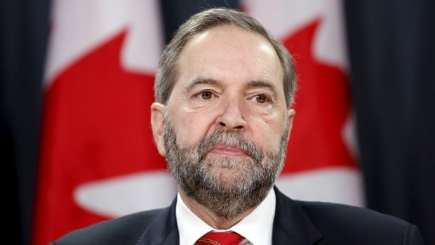 NDP Leader Tom Mulcair is staking out new ground to the left of the Liberals ahead of his much anticipated leadership review at the the party's upcoming convention in Edmonton.