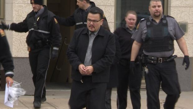 Kevin Goforth, seen being led from court during his trial, is appealing his manslaughter sentence. He was given 15 years for his role in the death of a four-year-old child in his care.