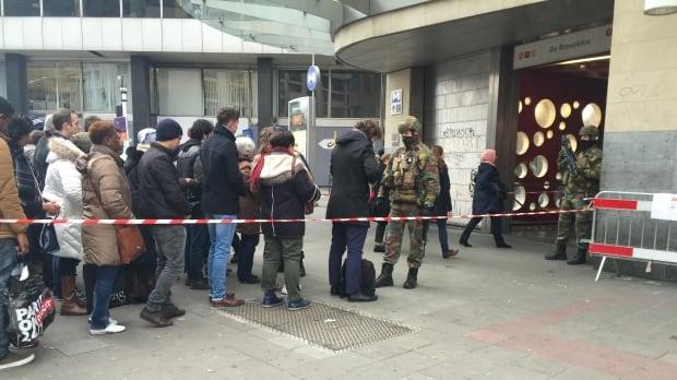 Brussels metro lineup