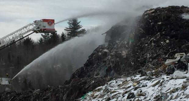 Kentville dump fire