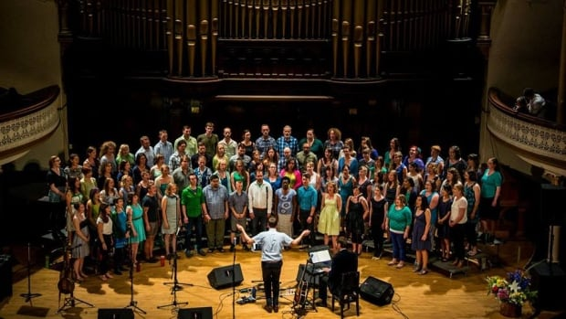 Victoria's The Choir performs at Alix Goolden Hall in January 2016. 100 people belong to The Choir; another 170 want to join.
