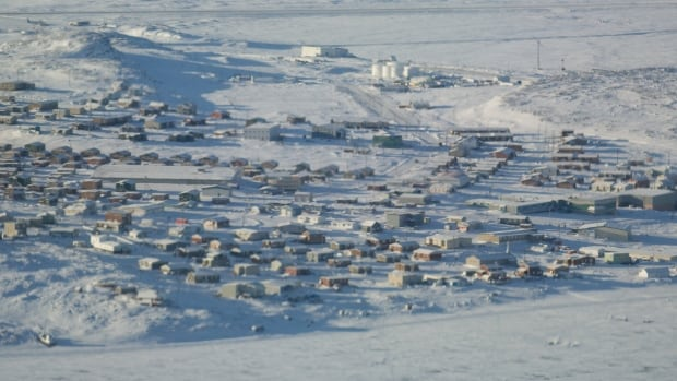 An aerial shot of the tiny hamlet of Kugluktuk, Nunavut. Russ Sheppard's work with children in the hamlet is the subject of an upcoming Hollywood film.
