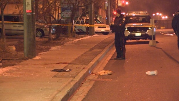 A stabbing took place Saturday at around 4 a.m. at 3458 Danforth Avenue, just west of Warden Avenue.