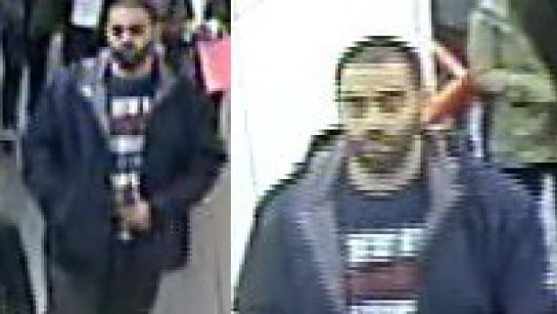 Metro Vancouver Transit Police are looking for this suspect in connection with an alleged indecent act on the SkyTrain