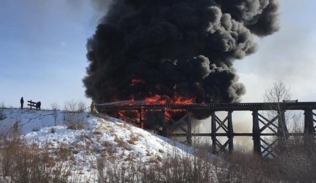 PORCUPINE PLAIN TRAIN BRIDGE FIRE 25, Μαρτίου 2016