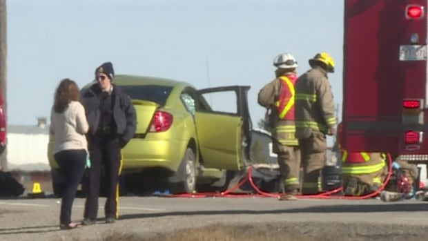 The male driver of the car was declared dead at the scene, along with a female passenger in the SUV.