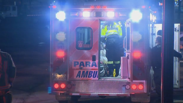 Paramedics say a 30-year-old man was transported to Sunnybrook Hospital in Toronto with stab wounds to his face and neck.
