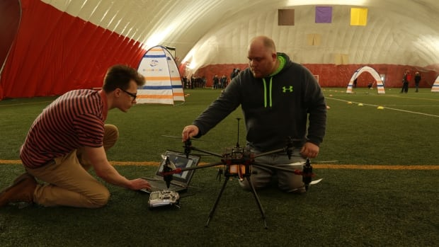 Builders of unmanned aerial vehicles (UAV's) piloted their creations through a series of challenges at the University of New Brunswick.