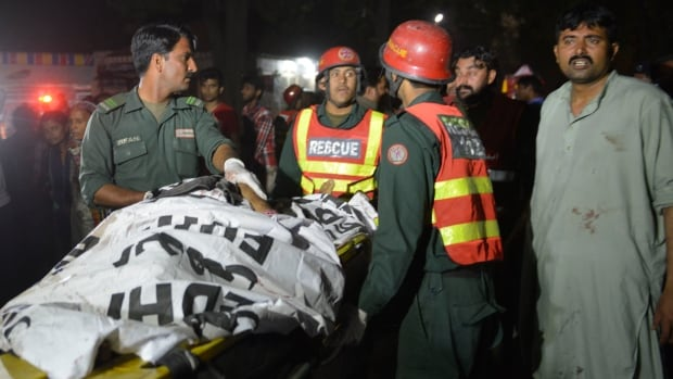 At least 44 people were killed and dozens injured in an explosion at a crowded park where many minority Christians had gone to celebrate Easter Sunday in the Pakistani city Lahore, officials said.