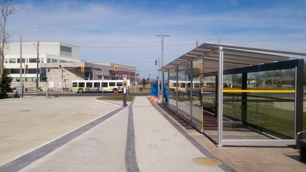 The new transit terminal at Mohawk College officially opened on Easter.