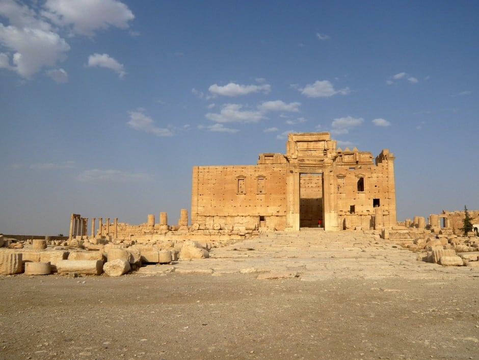 SYRIA-Palmyra Temple of BEL August 2010