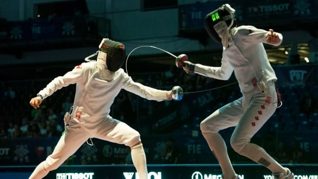 Vincent Pelletier, right, one of Canada's top fencers, says Star Wars was an inspiration for him.