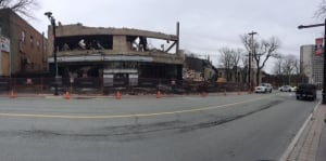 Spring Garden Road demolition