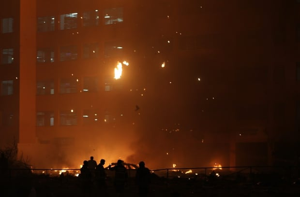 Mideast Emirates Skyscrapper Fire