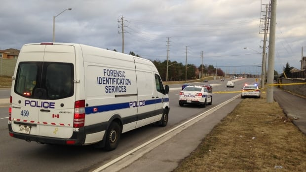 Peel police say the incident took place just after 5 p.m. on a sidewalk in a residential area.