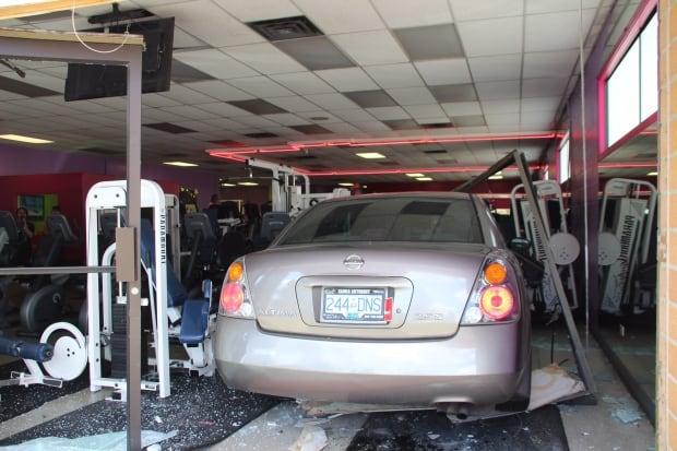 surrey gym car crash