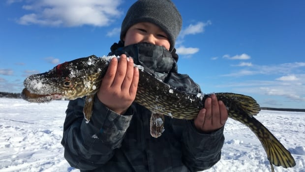 Jakwan Montgrand, 8, caught this fish on Lac la Loche in northern Saskatchewan.