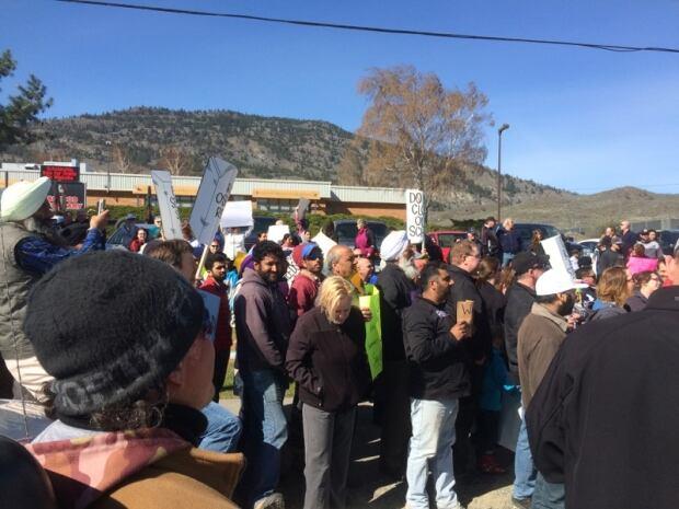 Okanagan school protest 2