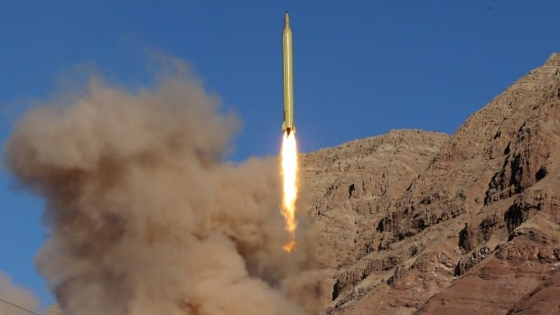 A ballistic missile was launched and tested in an undisclosed location in Iran on March 9.