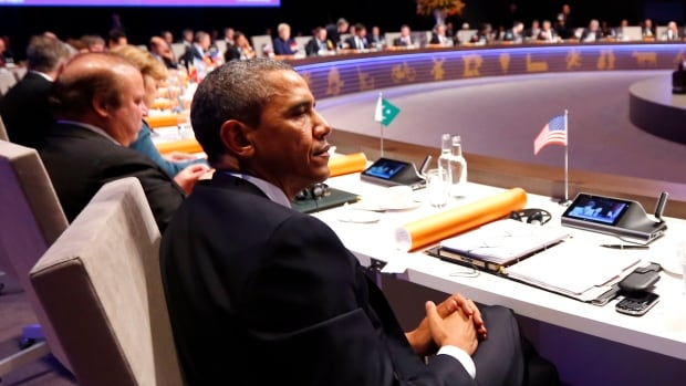 U.S. President Barack Obama attends the opening session of the Nuclear Security Summit in The Hague in March 2014. Obama will host the fourth and final nuclear summit Thursday and Friday in Washington.