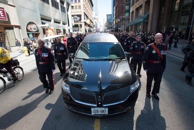 Rob Ford Funeral procession to st james cathedral March 30 2016