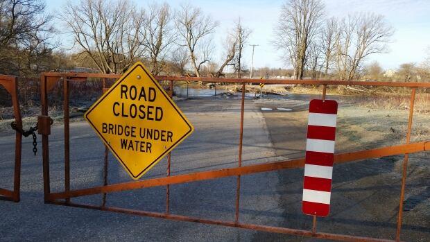 three bridges road under water