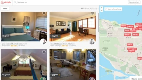 Vancouver wants province to tax Airbnb rentals like hotels