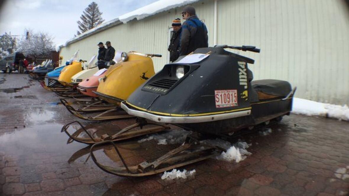 Windsor displays vintage snowmobiles in nova scotia nova for Vintage sleds