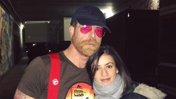 Lydia Berkennou-Vassallo with Eagles of Death Metal front man Jesse Hughes