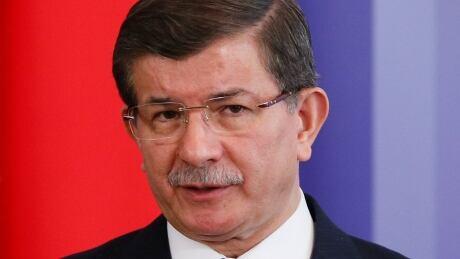 MIDEAST-CRISIS/SYRIA-TURKEY-DAVUTOGLU